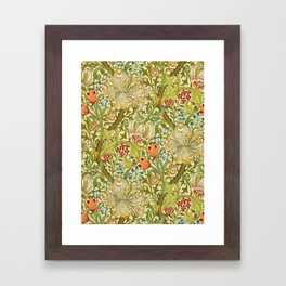 William Morris Golden Lily Vintage Pre-Raphaelite Floral Art Framed Art Print