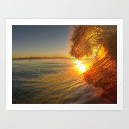Chris Harsh Photos * Golden Wave At Dawn Art Print