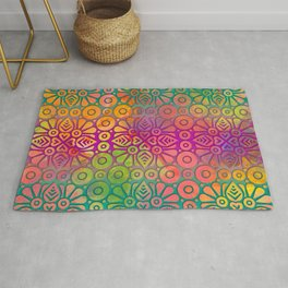 DP050-2 Colorful Moroccan pattern Rug