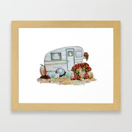 Happy Fall Glamper Framed Art Print