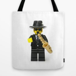 Jazz playing musician Minifig Tote Bag