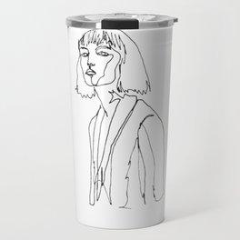 minimal drawing  Travel Mug