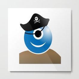 Alien one eye pirate buccaneer Metal Print