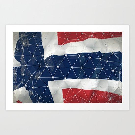 Flag of Norway Art Print