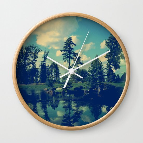 Yesterday Evening at the Lake Wall Clock
