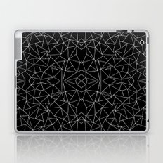 Abstract Collide Outline White on Black Laptop & iPad Skin