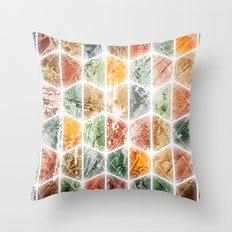 bright honeycomb Throw Pillow