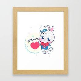 Kawaii usagi Framed Art Print