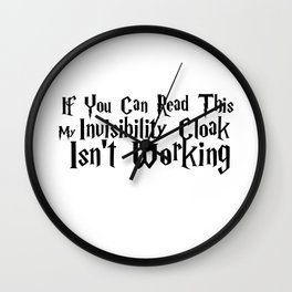 If You Can Read This... Wall Clock