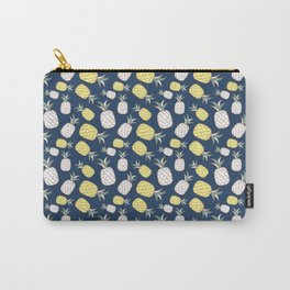 Pineapple Pattern - Yellow White Carry-All Pouch