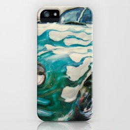 Green Flame Hotrod iPhone Case