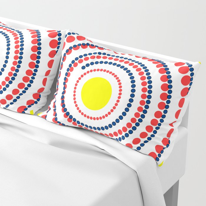 spiral in red and yellow Pillow Sham
