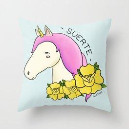 Lucky Unicorn Throw Pillow
