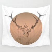 animal crew Wall Tapestries featuring ANIMAL by Lua Fraga