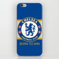 chelsea iPhone & iPod Skins featuring Chelsea by DeBUM