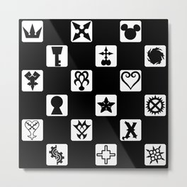 Kingdom Hearts Grid Metal Print