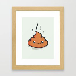 Happy crap! Framed Art Print