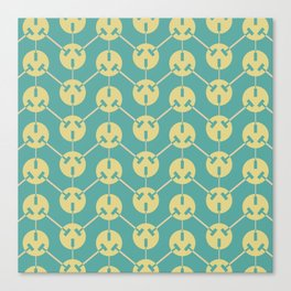 Ohm series 220 volt pattern Canvas Print