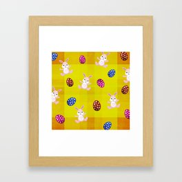 Easter Bunny Pattern Framed Art Print