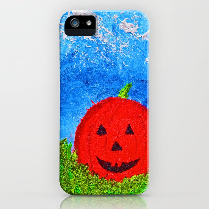 """""""Ethan's Pumpkin #2"""" with Poem: Faces Of Friends"""" iPhone Case"""