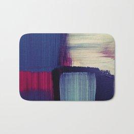 minimal painting, simple colours, block colours Bath Mat