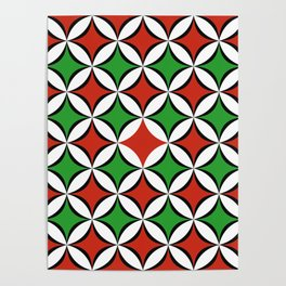 Christmas In Circles Poster