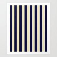 Navy Stripes Art Print
