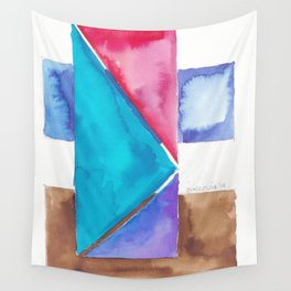 180818 Geometrical Watercolour 8| Colorful Abstract | Modern Watercolor Art Wall Tapestry