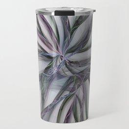 Filigree Motions, Abstract Fractal Art Travel Mug