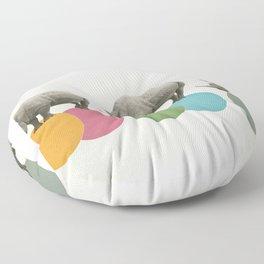 Rambling Rhinos Floor Pillow