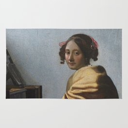 "Johannes Vermeer ""A Young Woman Seated at the Virginal"" Rug"