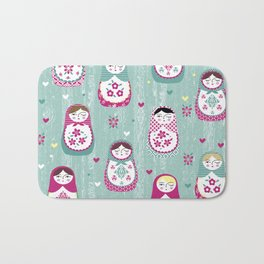Matryoshka Dolls Bath Mat
