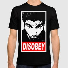 Disobey Chino LARGE Mens Fitted Tee Black