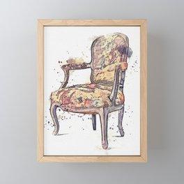 FAUTEUIL watercolor by Ahmet Asar Framed Mini Art Print