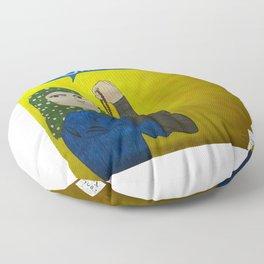 Muslim Rosie the Riveter Floor Pillow