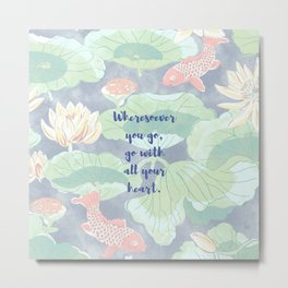 Koi Philosophy Metal Print