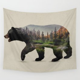 The North American Black Bear Wall Tapestry