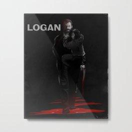 Logan Noir Metal Print