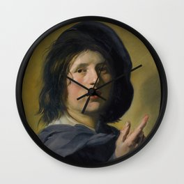 """Frans Hals """"A tronie study of the head and right hand of a boy"""" Wall Clock"""