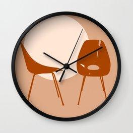 Mid-century chairs Wall Clock