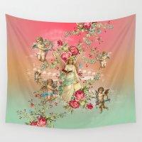romantic Wall Tapestries featuring romantic by mark ashkenazi