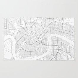 New Orleans, United States Minimalist Map Rug