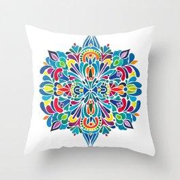 Caribbean mandala Throw Pillow