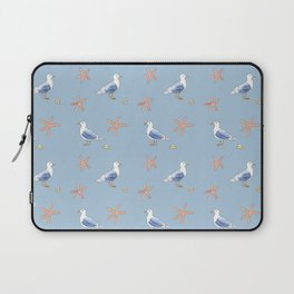 Seagull with Sea stars Watercolor Design Laptop Sleeve