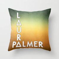 bastille Throw Pillows featuring Bastille - Laura Palmer #2 by Thafrayer