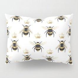 Gold Queen bee / girl power bumble bee pattern Pillow Sham