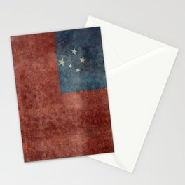 Samoan national flag - Vintage retro version to scale Stationery Cards