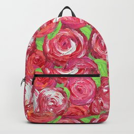 Big Fat Pink Cabbage Roses Backpack