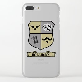 Doc Holliday Coat of Arms Clear iPhone Case