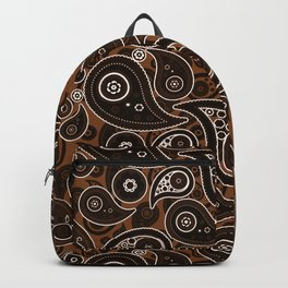 Chocolate Brown Paisley Pattern Backpack